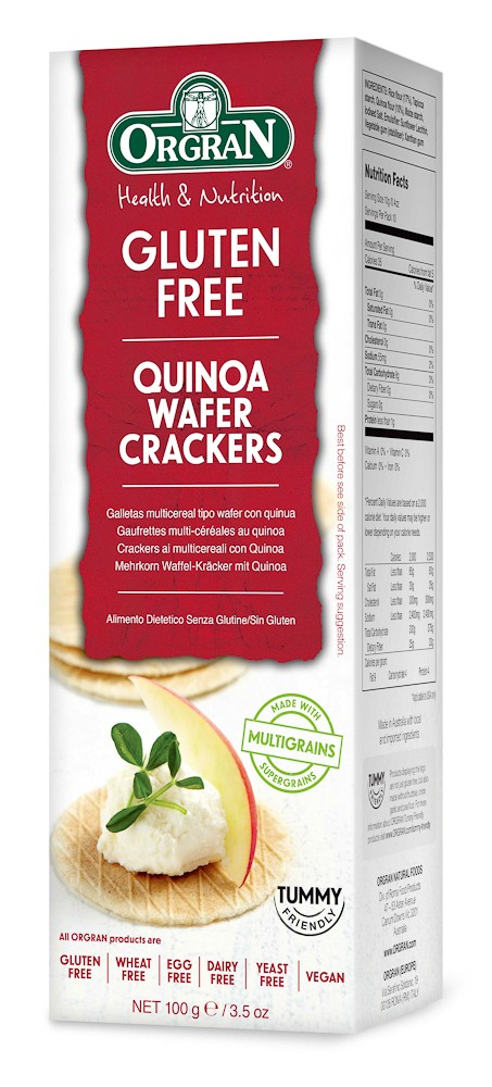Wafel cracker met quinoa
