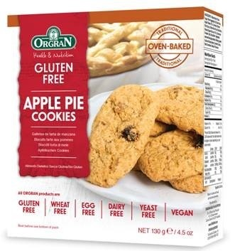 Appel pie cookies, Orgran