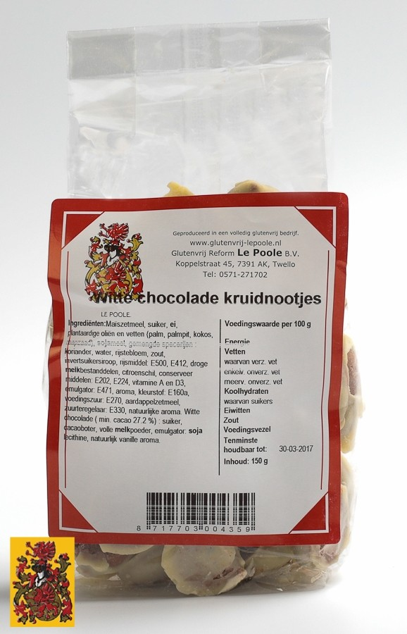 Witte chocolade kruidnootjes