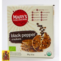 Biologische zwarte peper crackers, Mary's gone