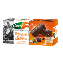 Brownies choco-hazelnoot, Valpi, aanbieding tht 26/04/19
