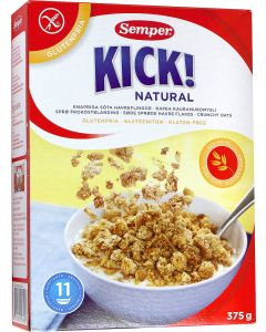Kick! Naturel, Krokante haver flakes, Semper