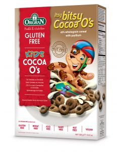 Kids Itsy bitsy Cacao O's /Chocolade ontbijtgranen, Orgran , aanbieding tht 13/09/20