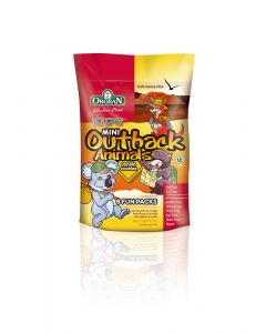 Mini zakjes Outback Animals Vanille, Orgran,