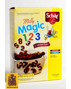 Milly Magic Pops, Knapperige cacao-cereals. Schär