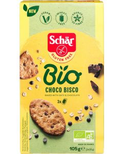 Choco Bisco, Biscuits met haver en pure chocolade, Schär Bio