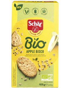 Apple Bisco/ Biscuits met haver en appel, Schär Bio